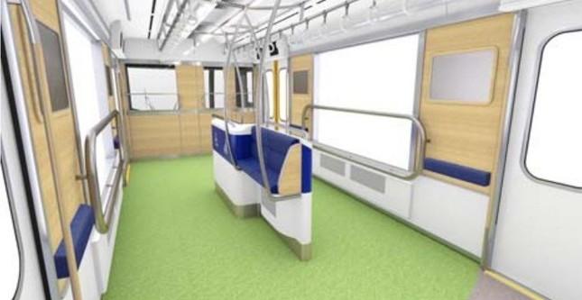40000系には「車いす」や「ベビーカー」のほか、大きな荷物持っていても快適に利用できるスペース「パートナーゾーン」が設置される(イメージ)