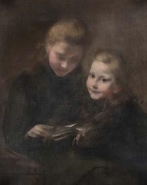 ウジェーヌ・カリエール「手紙」1887年頃 油彩、キャンヴァス 82.0×66.0㎝ 個人蔵