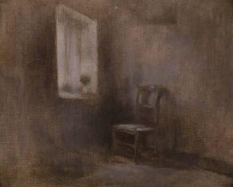 ウジェーヌ・カリエール「室内」1887~90年頃 油彩、キャンヴァス 32.5×40.5㎝ 個人蔵