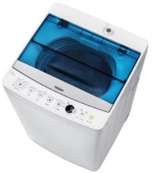 洗濯後のアイロンがけの時間と手間が省ける。(写真は、全自動洗濯機「JW‐C55A」)