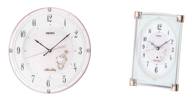 左から、CS501P(掛時計) CS201P(置時計)