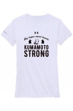 横顔の「くまモン」と「KUMAMOTO STRONG」