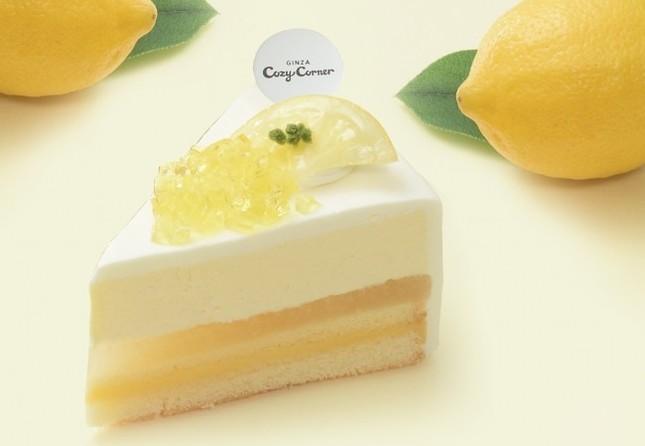 「レモンづくし」のチーズケーキ