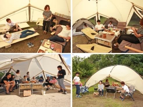広々としたサイズのキャンプサイトを気軽に作れる