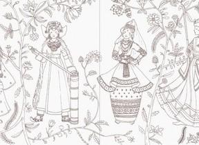 世界のロマンティックで豪華な衣装を旅する気持ちで彩ろう!「民族衣装のぬり絵ブック」