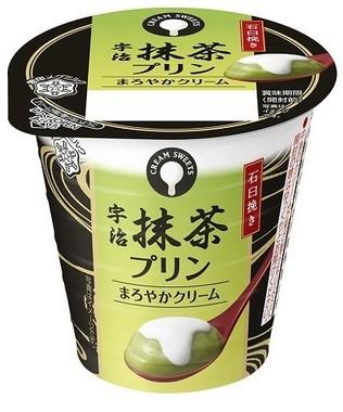 濃厚なクリームとほろ苦い抹茶プリンがとろける