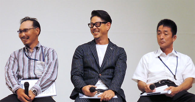 (写真左から)いわき市漁業協同組合の鈴木二三男さん、同鈴木健さん、同吉田康男さん