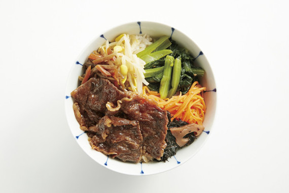 柿安の「黒毛和牛のビビンバ丼」