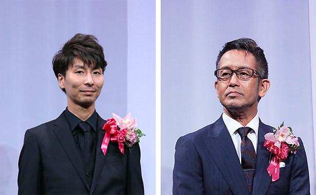 パーティーのプロデュースをした小原さんと宮本亜門さん