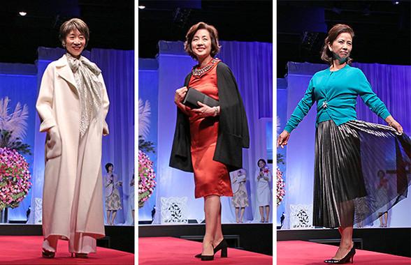 「オトナのためのファッションショー」に出演したモデルその1