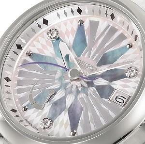 幾何学模様とダイヤモンドが美しい高級ウオッチ