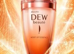 乾燥による小ジワ目立たせない!持続型ハリ付与美容液 カネボウ「DEW ボーテ モイストリフトエッセンス」