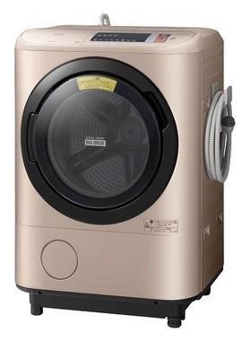 「『温水』ナイアガラ洗浄」で、衣類に付いた黄ばみまできれいに落とす(写真は、「ビッグドラム BD‐NX120A」)