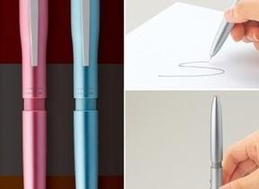 シヤチハタ「ネームペン トリノ」...1本4役のはんこ付多機能ペン