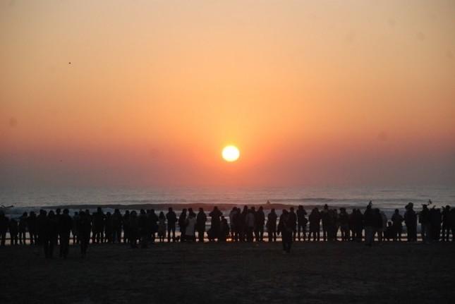 14年の初日の出(本須賀海岸)