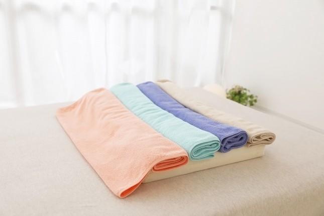 タオルの置き方や敷き方を変えることができる