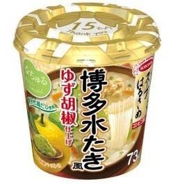 博多地鶏の旨みが利いたスープに、フワッと広がるゆず胡椒が後引くおいしさ