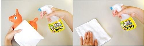 汚れもさっぱり拭き取れ、簡易的な除菌・消臭もできる