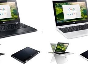 液晶が360度回転しタブレットやビューワーにも エイサー「Chromebook R 11」