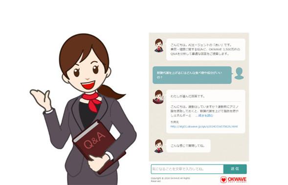 AIエージェント「あい」のイメージ画面