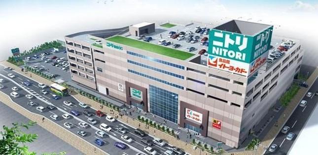 ニトリ梅島ショッピングセンターのイメージ図