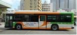 都バスも展示。普段は見られない運転席も見学できる