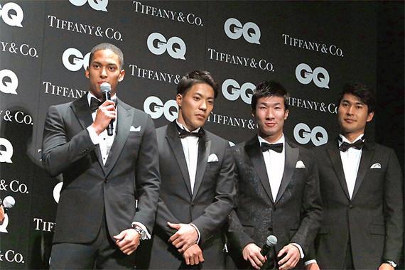 陸上男子400mリレー日本代表の4人は初々しい印象