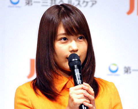 有村さんのコミカルな演技にもご注目(写真は2015年9月撮影)