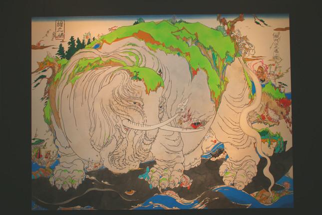 米山幸助さんの作品「絵ノ島 ‐ 江ノ島図二〇一六 ‐」