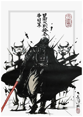 武人画「星間大戦絵巻 帝国軍」