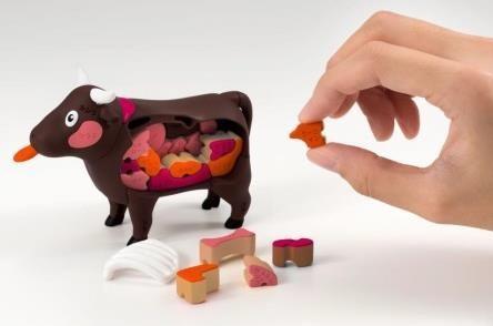 「一頭買い!!特選 焼肉パズル-ウシ-」の遊び方イメージ