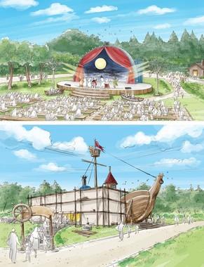 ムーミンアトラクションのイメージ画像 (C)Moomin Characters