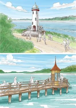 灯台や水浴び小屋のイメージ画像 (C)Moomin Characters