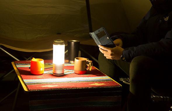 キャンプ泊での夜のテントや車の中でも安心して使える
