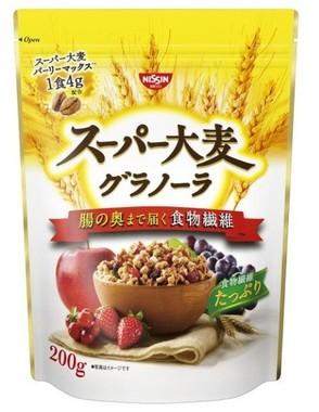 食物繊維の質と量が違う「スーパー大麦グラノーラ」