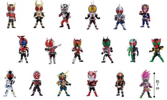 E賞 全18シリーズの平成ライダー達をデザインしたデフォルメフィギュア