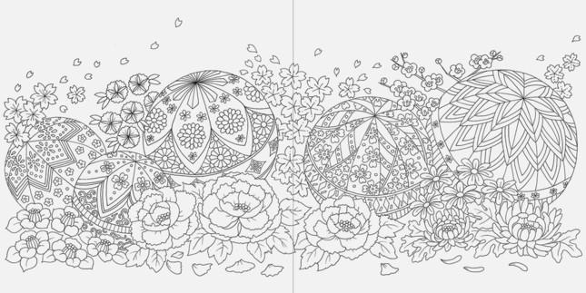花と手まり
