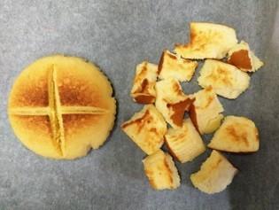 左から「しっとりたまご蒸しパン」、「北海道チーズ蒸しケーキ」