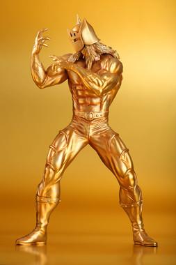 レジンキャスト製に純金箔を施した