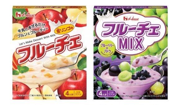 蜜リンゴ味(左)とMIXブルーベリー×ブドウ