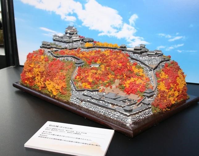 写真は松山城のジオラマ模型(2016年12月24日撮影)