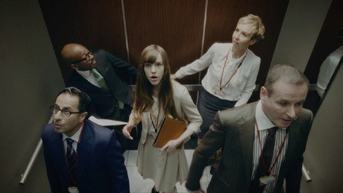 「Oh!!!!」(エレベーターの乗員)
