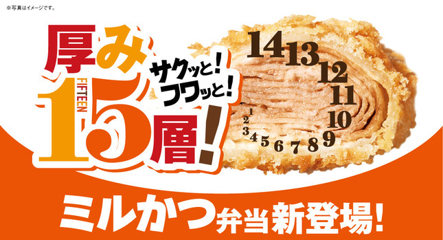 オリジン「15層のミルかつ弁当」