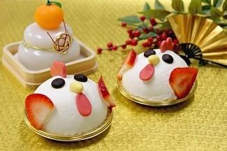可愛らしい酉型ケーキ