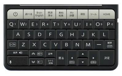 タイピングしやすい大型キーボードを採用