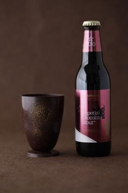 チョコビールをチョコグラスで乾杯