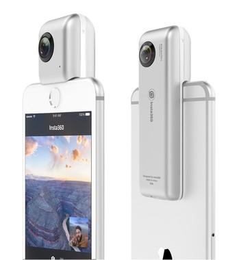 iPhoneがたちまち全天球カメラに!バッテリー内蔵で単体でも撮影OK