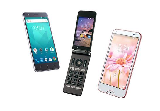 (写真左から)「BLADE V770」、「DIGNO Phone」、「DIGNO W」