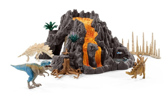 恐竜シリーズ「大火山とティラノサウルス恐竜ビッグセット」