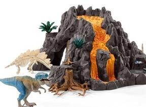 「大火山とティラノサウルス恐竜ビッグセット」何度も遊べる楽しい仕掛け